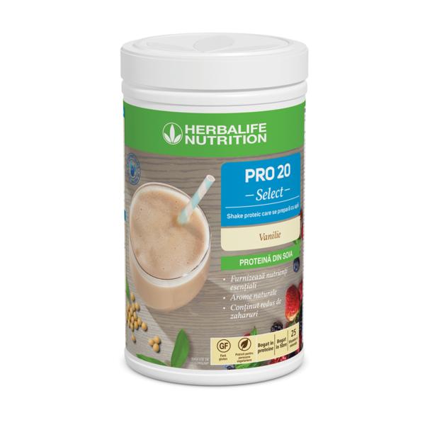 PRO 20 Select Shake proteic care se prepară cu apă Vanilie 630 g 1