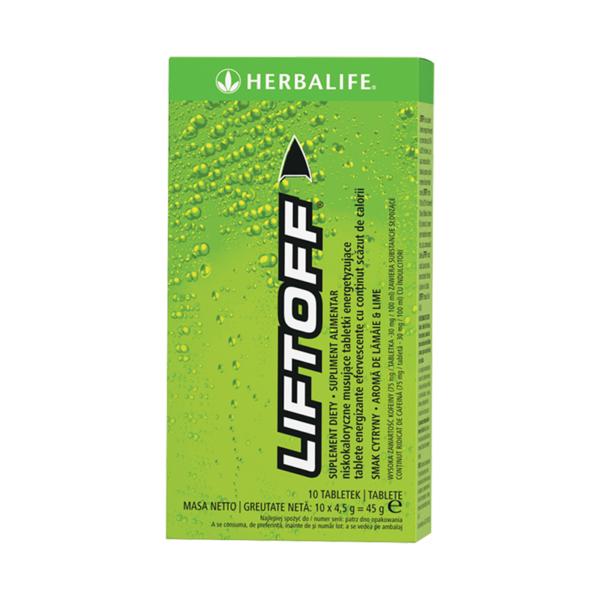 LiftOff Efervescent Băutură energizantă Lămâie-lime 10 tablete per cutie 1
