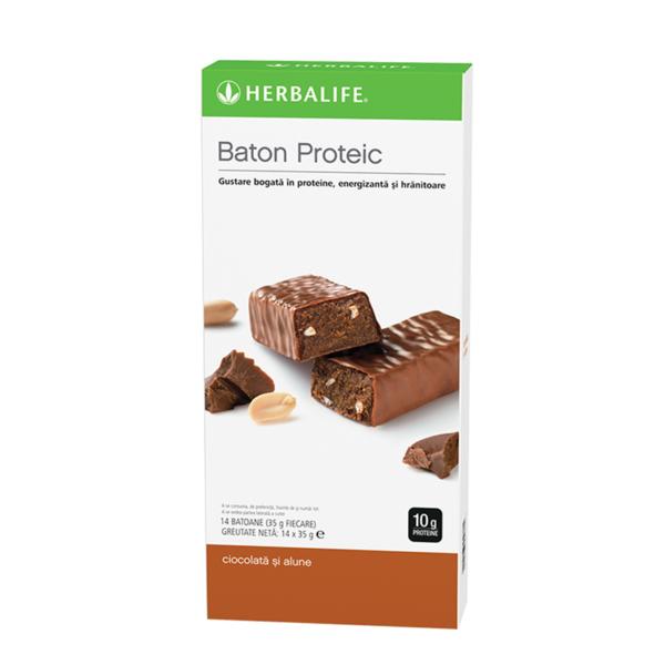 Batoane Proteice Herbalife Ciocolată și alune 14 batoane per cutie 1